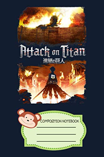 Attack On Titan Keyart HTUML Notebook: 120 Wide Lined Pages - 6' x 9' - College Ruled Journal Book, Planner, Diary for Women, Men, Teens, and Children