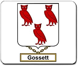 Gossett Family Crest Coat of Arms Mouse Pad