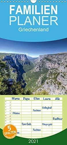 Griechenland - Zagorochoria und Vikos-Schlucht - Familienplaner hoch (Wandkalender 2021, 21 cm x 45 cm, hoch)