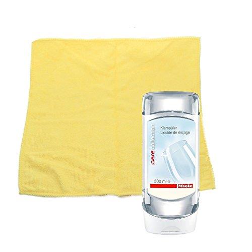 Miele Klarspüler, 500 ml für beste Trocknung und Schonung in Miele Geschirrspülern. incl. MARETEAM® Poliertuch
