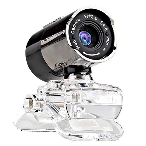 LIDIWEE Webcam HD 720P, HD Webcam PC con Microfono Clip-on Videocamera Web per PC Laptop Videochiamata Skype e Registrazione Esposizione Automatica