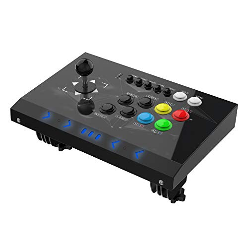 DOYO Arcade Joystick Machine Video Game Arcade Fight Stick for Home Compatible with NEOGEO Mini/PC/PS Classic/Nintendo Switch/PS3/Android/Raspberry Pi Black