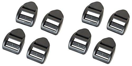 AceCamp Duraflex Klemmschnalle mit Griff Ladderlock Set 8 x 20 mm, Schwarz, Stegschnalle, Leiterschnalle, Rucksackschnalle, Gurtschnalle, Seitenschnallen, Doppelpack (8 Stück), 7050