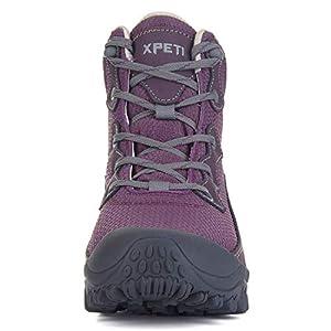 XPETI Women's Dimo Mid Waterproof Hiking Outdoor Boot (8 B(M) US, Purple)