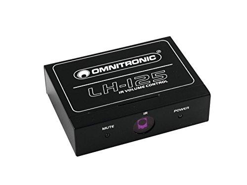 Omnitronic LH-125 IR-Lautstärkeregler | Stereo-Lautstärkeregler mit IR-Fernbedienung | Geeignet z. B. für CD-Player, Aktivboxen oder Verstärker | IR-Fernbedienung im Scheckkartenformat