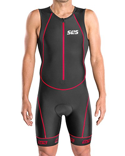 Triathlon Suits Mens | Triathlon Kit Men FRT 2.0 Trisuits | Mens Triathlon Suit | Triathlon Suits Mens | Triathalon Suit (Black/Red, Large)
