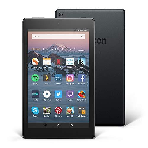 """Tablet Fire HD 8   Schermo HD da 8"""", 32 GB, nero - con offerte speciali (8ª generazione - modello 2018)"""