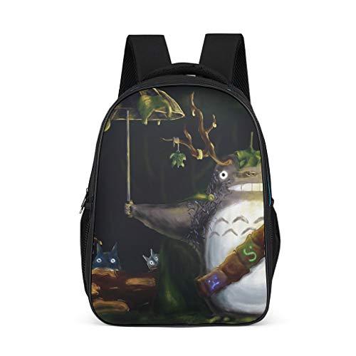 Mode Grafik Rucksack Cool Anime Japanisch Totoro Regenschirm Ko Totoro Chuu Totoro Wald Geist Kunst Druck Beiläufig Schultertasche Büchertasche Schultasche Tagesrucksack