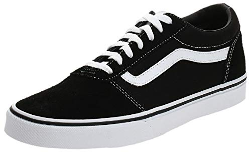 Vans Men's Low-Top Sneakers, Black Suede Canvas Black White C24, 9 UK