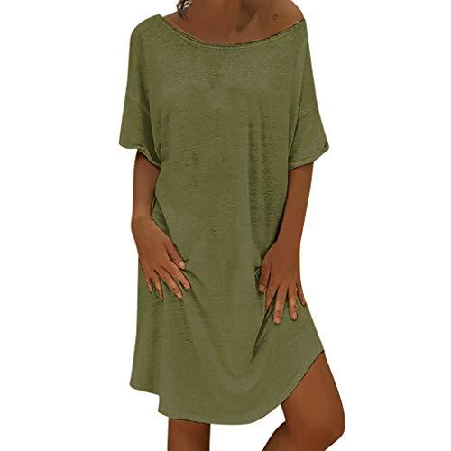 SUNNSEAN Vestido Mujer Vestidos Mujer Verano, Mujer Feminino Camiseta Algodón Casual Tallas Grandes Vestido de señoras Tallas Grandes Vestidos de Playa S - 5XL