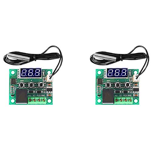 Fauge XH-W1209 Pantalla Digital Azul Termostato Luz Controlador de Temperatura Miniatura Tablero de Control de Temperatura