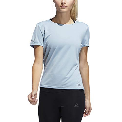 adidas Run T-Shirt Femme, Ash Grey, FR : M (Taille Fabricant : M)