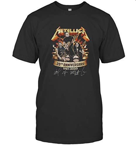 Meta.llica Men 39th Anniversary 1981 2020 Tshirt T-Shirt (Black;3XL)