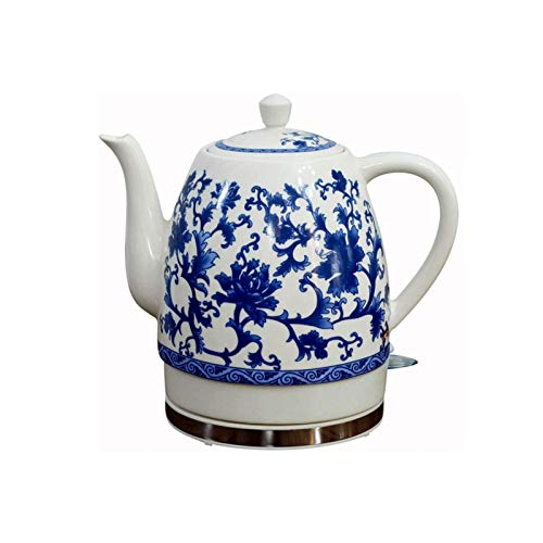 Z-Color Ceramic Electric Kettle Cordless Water Tea, Tea-retro 1.8L Jug, 1000w Water Fast for Tea, Coffee, Soup, removable Base, Automatic Power Off,boil Dry Protection