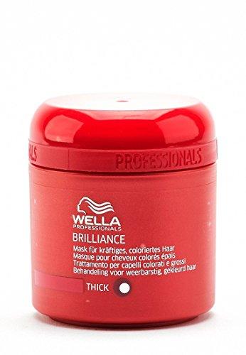 Wella Professionals Brilliance unisex, Mask für kräftiges, coloriertes Haar, 150 ml, 1er Pack, (1x 1 Stück)