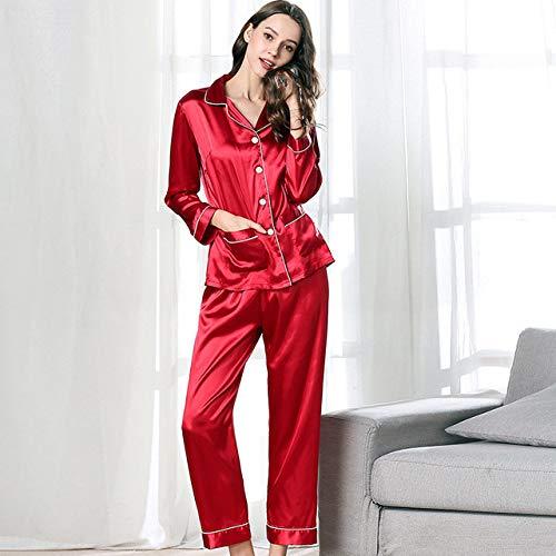 Pijamas Mujeres Primavera y otoño simulación Seda Ingreso