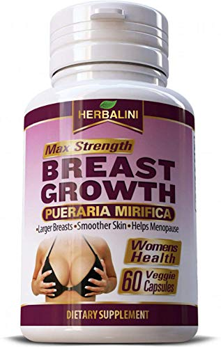 Max Strength Pueraria Mirifica 5000mg - Breast Growth, Bust Enlargement, Firm Body, Breast Enhancement Pills - Body Augmentation, Vaginal Health, Menopause Relief, Skin and Hair Health