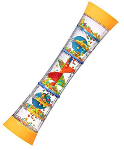 playkidiz 12 Rainmaker Rattle Toy for Babies & Toddlers, Kids Rainfall Rattle Tube, Rain Stick Shaker, Music Sensory Auditory Instrument Toy.