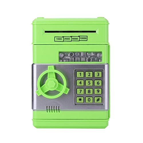 YINGZI Hucha Automático Piggy Bank ATM Password Money Box Casas Casas de Efectivo Saving Box ATM Bank Caja de Seguridad Billete Billete de depósito Niños Regalo de cumpleaños para niño