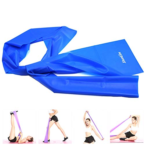JJunLiM 1.5 Metres Latex Fitness Resistance Bands Elastic Stretch Bands Exercise Training Band Best for Pilates Yoga, Home Gym Crossfit Workout or Physical Therapy (1.5m Blue)