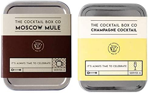 The Cocktail Box Co Champagne Cocktail and Moscow Mule Cocktail Kit Combo Pack product image