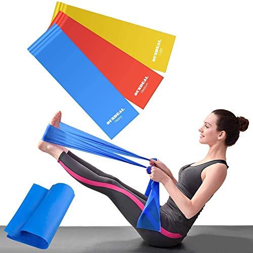 OUNDEAL Bandas Elasticas Musculacion, Bandas Elasticas Fitness, Cintas Elasticas Musculacion de Tela 3 Niveles, Gomas Elasticas Fitness