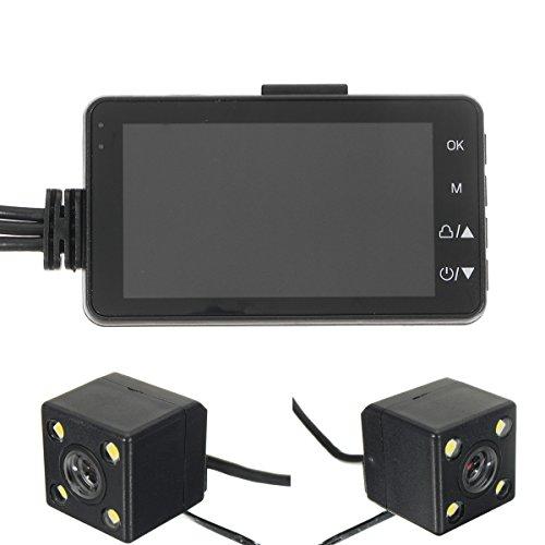 C-FUNN 3Inch HD 720P Dvr Caméscope Double Cam Action Caméra Moto Enregistreur Vidéo