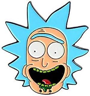 Dibujos animados de Rick y Morty divertido broche topiario regalo para amigo en el día de los tontos broche de personalida...
