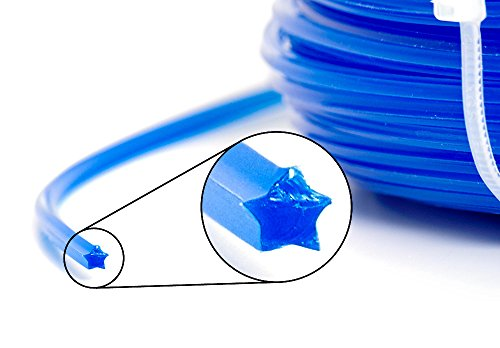 Fil de coupe professionnel pour débroussailleuse - 100 m - 5 pans - 2,7 mm - Fil de rechange pour tête de fil ZTG
