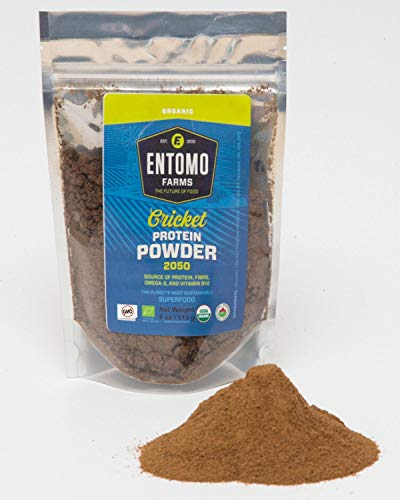 Entomo Farms Organic Cricket Powder - 100% Ground Crickets - North American Farmed