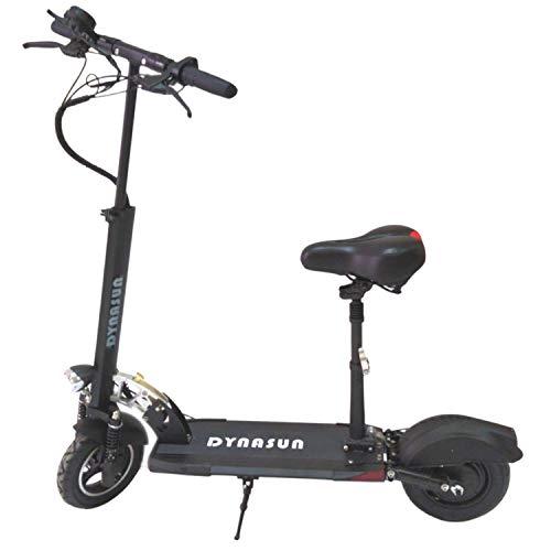 Monopattino Elettrico Pieghevole con Sella Dynasun MQ02 E-scooter in Alluminio per Adulti 500W Batteria 10Ah, Fino a 45 Km Autonomia, Ruote 10', Freni a Disco, Max 150Kg