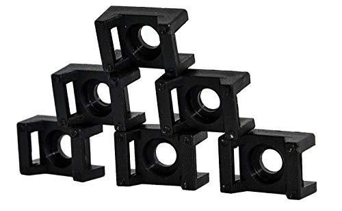 9mm natur-weiß 10 Stück Schraubsockel Montagesockel für Kabelbinder bis ca
