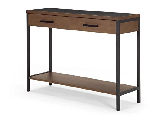 Industrial Storage Console Table in Dark Stain Pine Wood – Perfect Tables For Any Hallway, Living Rooms, Dining Room, Conservatory and Bedroom