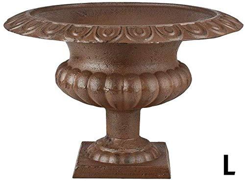 Gietijzer Bruin Laag Frans Urn Tuinvaas Romeinse Stijl 30cm