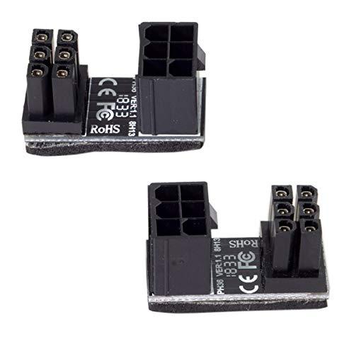 Chenyang CY ATX 6-poliger Buchse auf 6-poliger 180-Grad-Winkeladapter für Desktop-Grafikkarte