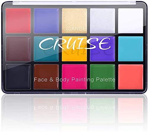 UCANBE Gesicht Körper Farbe Öl, professionelle 15 Farben FX Make-up Palette, ideal für Halloween, Cosplay Kostüme, Partys und Festivals