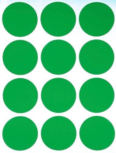 Royal Green Adesivi Rotondi Verdi 38mm - Etichette Colorate Scrivibili Multiuso - Bollini da 3,8 cm - Confezione da 180 Pezzi