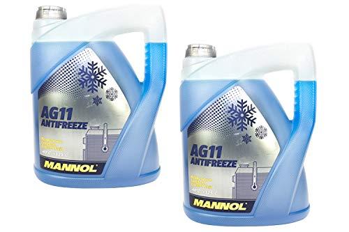 MANNOL Frostschutz Konzentrat blau SAE J1034 Longterm Antifreeze AG11-40°C 2 Stück á 5 Liter