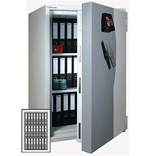 Wertheim Wertschutzschrank EWS1200, 2 x Doppelbartschloss umstellbar (mit je 1 Schlüsselträger, 2 Schlüsselbärte), Grad 5 nach EN 1143-1, H119.3xB81xT72.5 cm, 1220 kg