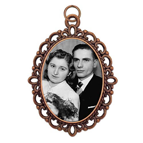 Bridal Wedding Bouquet Photo Charm Copper Picture Frame Memorial DIY Includes Photo Resizing Software