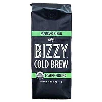 Bizzy Organic Cold Brew Coffee | Espresso Blend | Coarse Ground Coffee | Coarse Ground Coffee | 1 LB
