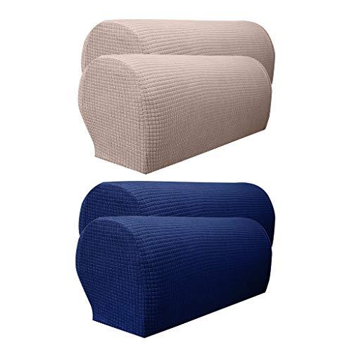 Baoblaze Soft Armchair Covers Stretch Set Stuhl Sofa Arm Protectors 2 Farben, Set 4