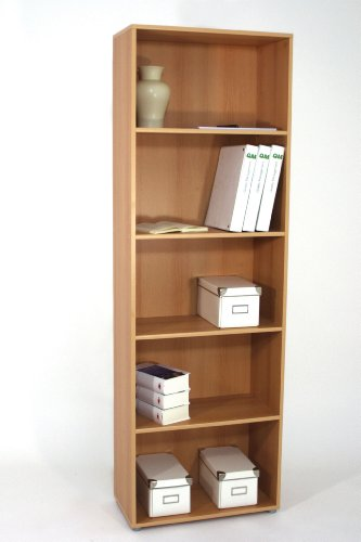 deine-tante-emma.de Regal Büroregal Bücherregal Office Buche Dekor B/H/T ca. 60 x 182 x 29,5 cm