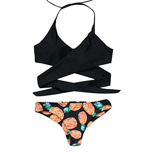 MaoDaAiMaoYi Zomerjurk voor dames, softcup, eendelig, triangle tankini, badpak, print, bikini, push mode living up vlinder pareos strandjurken