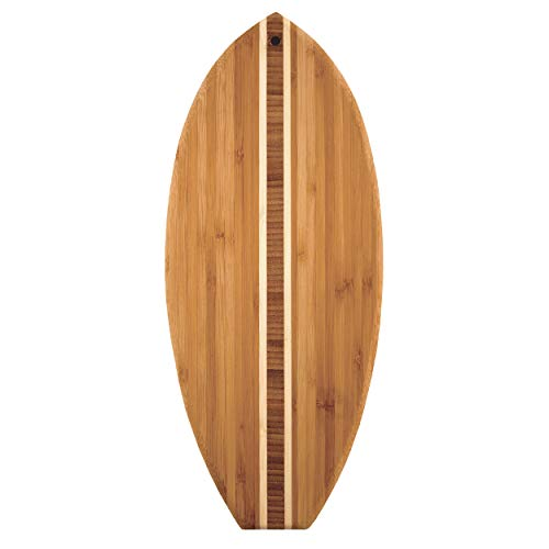 Surfboard Shaped Bamboo Cutting / Cheese Board,