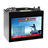 Absolute Battery 12V 75AH Group 24 SLA Dual Purpose AGM Marine Combo Post Battery