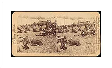 J. F. Jarvis - 20x12 Art Print by Museum Prints - Pair of Stereograph Views of General Jacob S. Coxey's Army of The Unemployed