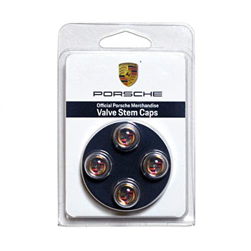 Porsche Color Valve Stem Caps, Set of Four