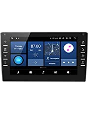 ANKEWAY [2G + 32G] 8 Pulgadas Android 10 Radio de Coche 2 DIN con RDS/FM/Am/DSP/WiFi/Bluetooth 5,0/1080P HD IPS Pantalla Táctil/Navegación GPS, Multi-Carplay+Easy Connection+Cámara Trasera(Incluida)