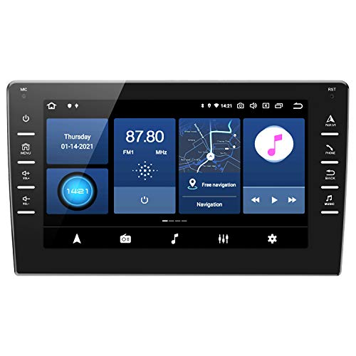ANKEWAY 8 Pollici [2G+32G] Android 10 Autoradio 2 DIN con RDS/FM/AM/DSP/WiFi/Bluetooth 5,0/1080P HD IPS Touch Screen/Navigazione GPS, Multi-Carplay+Easy Connection+Telecamera Posteriore (Inclusa)